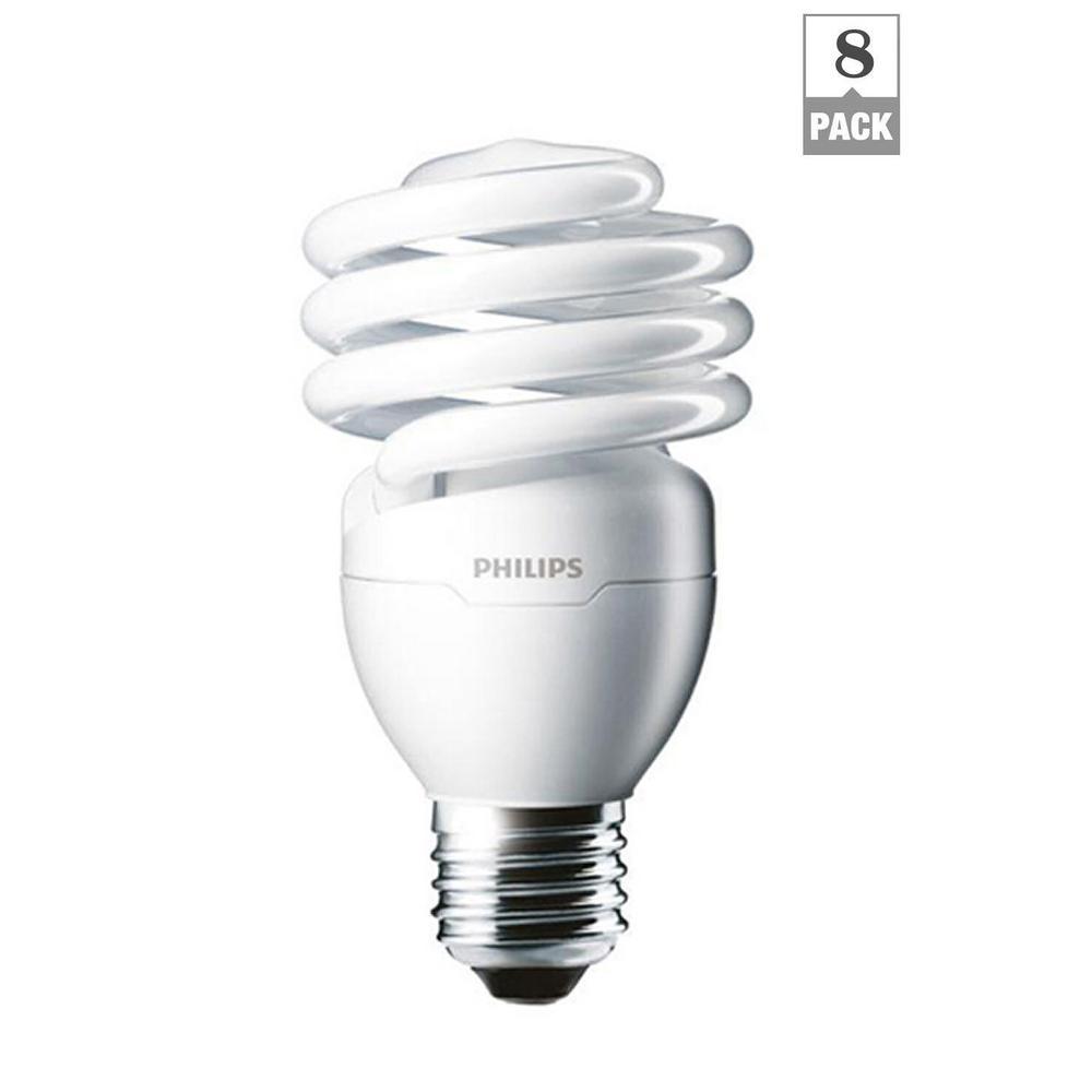 100-Watt Equivalent T2 Twister CFL Light Bulb Daylight Deluxe (8-Pack)
