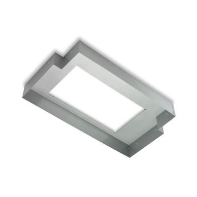 36 in. T-Shaped Liner for Power Pack Range Hoods in Silver Paint Finish