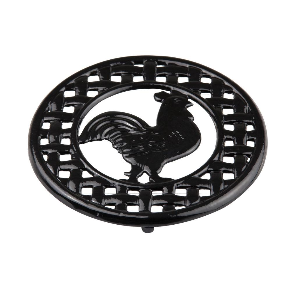 8 in. x 8 in. x 5 in. Cast Iron Rooster
