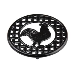 Home Basics 8 inch x 8 inch x 5 inch Cast Iron Rooster Trivet by Home Basics
