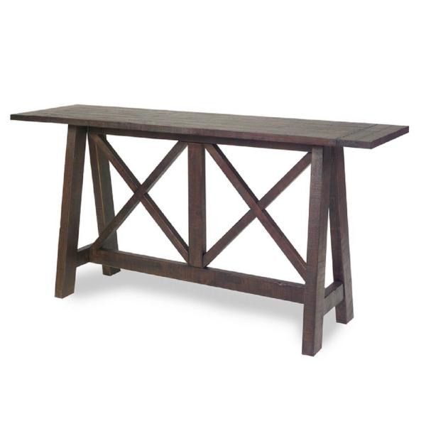 Progressive Furniture Vineyard Distressed Root Beer Console Table A732-70