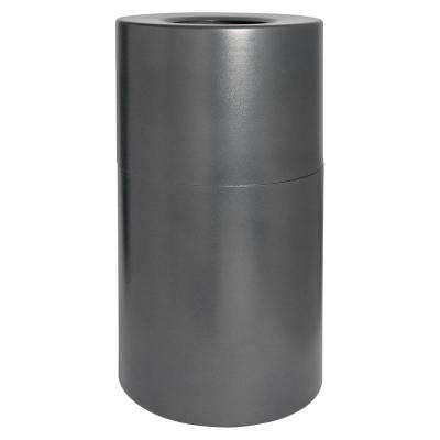 Grey Round Open Top Trash Can