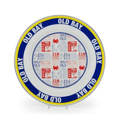 12.5 in. Old Bay Enameled Steel Round Charger Plate