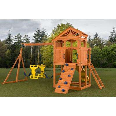 Timber Valley Swing Set with Blue Accessories