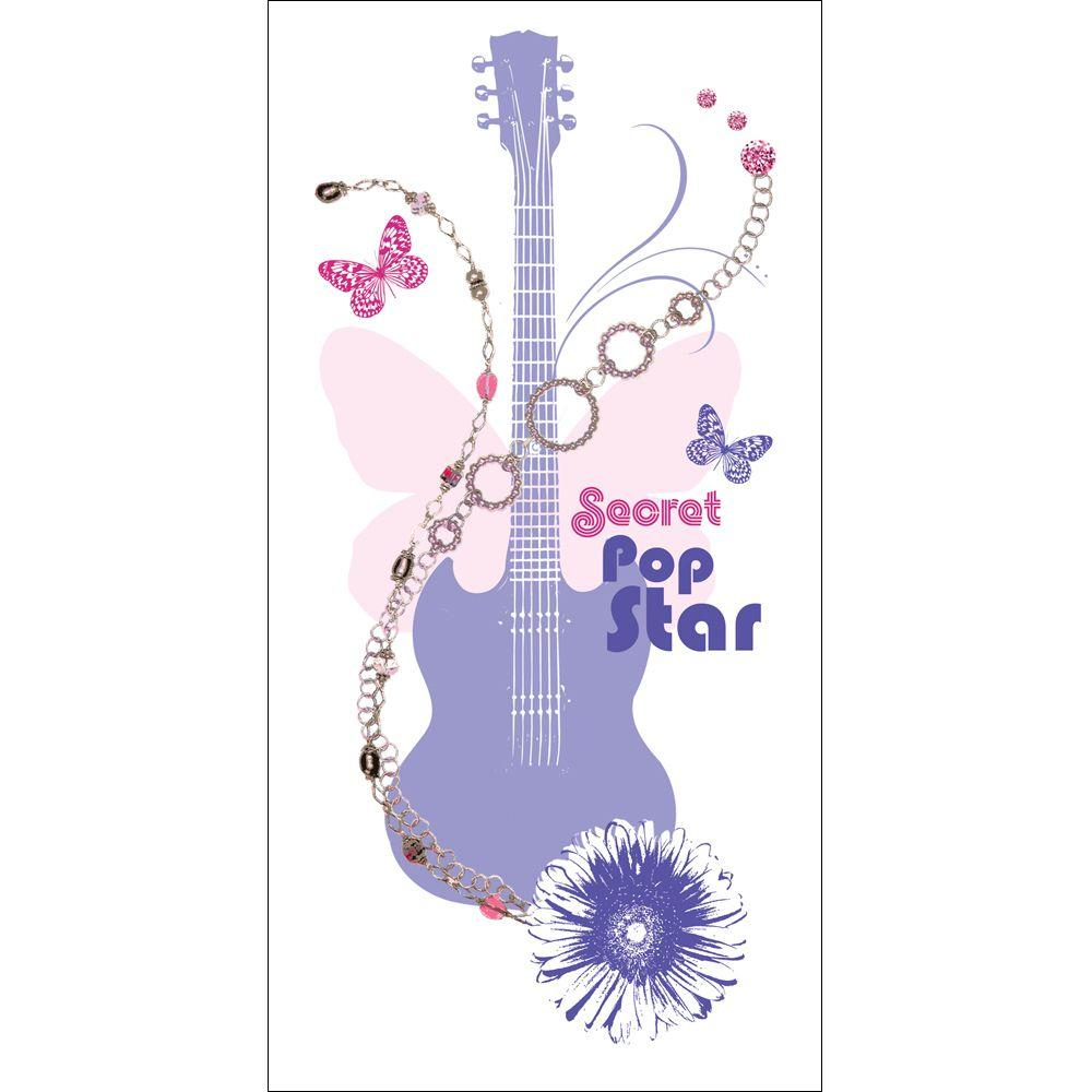 Disney 16-3/4 in. x 36-3/4 in. Purple Hannah Montana Wall Decal-DISCONTINUED