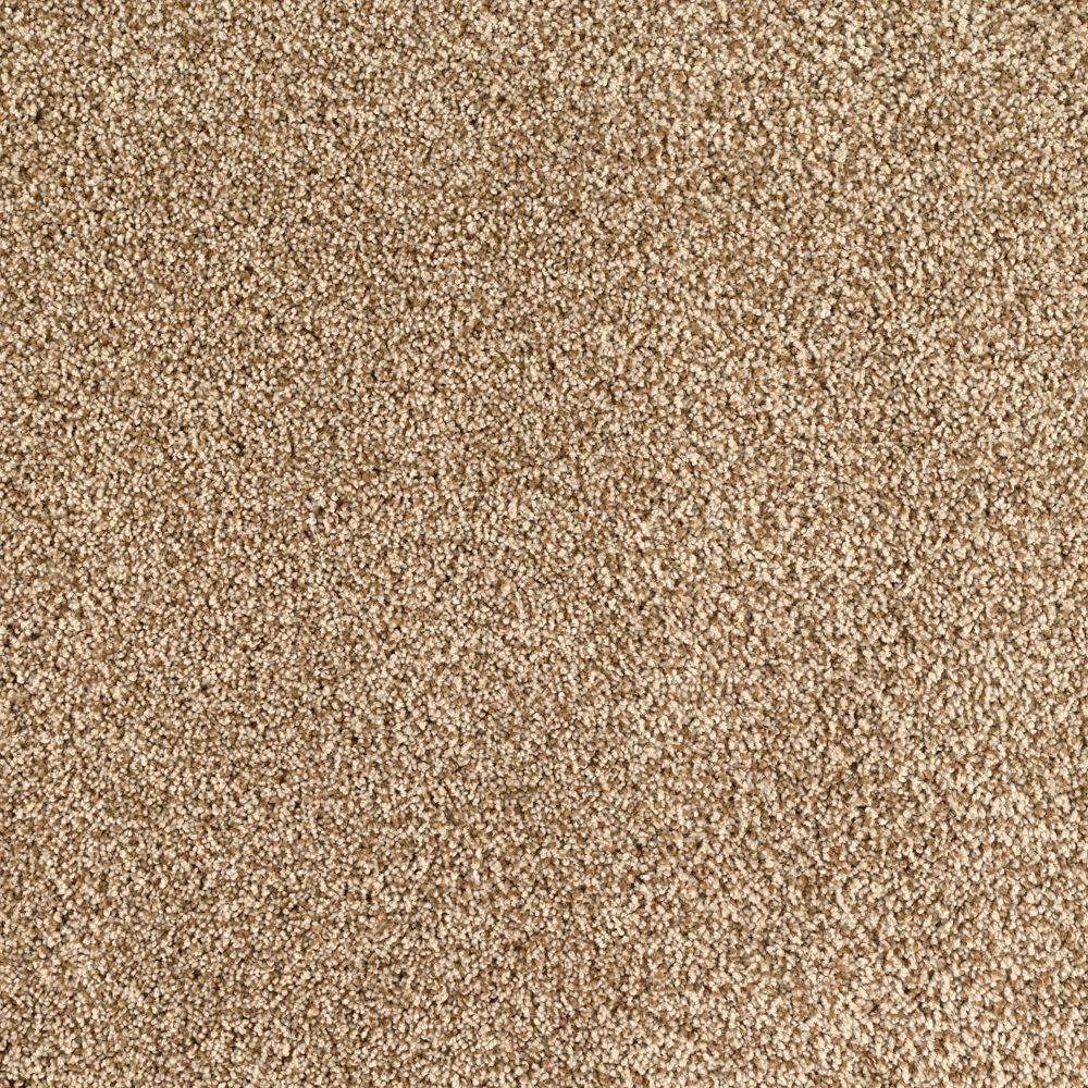 SoftSpring Lavish I Color Tan Wicker Texture 12 ft Carpet 0324D