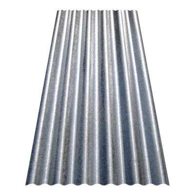 8 ft. Corrugated Galvanized Steel Utility-Gauge Roof Panel