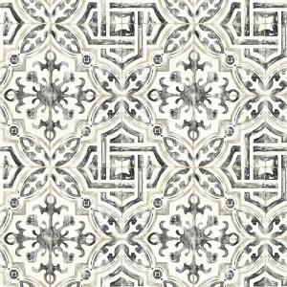 Chesapeake 56 4 Sq Ft Sonoma Black Spanish Tile Wallpaper