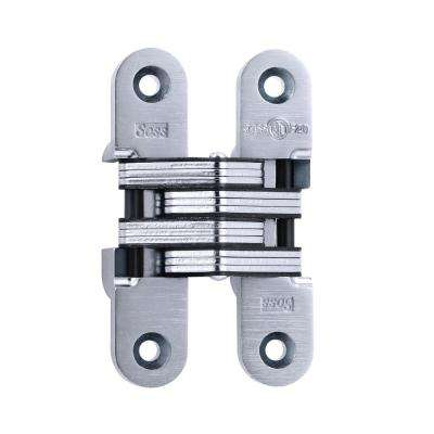 1 in. x 4-5/8 in. Satin Chrome 20 Minute Fire Rated Invisible Hinge