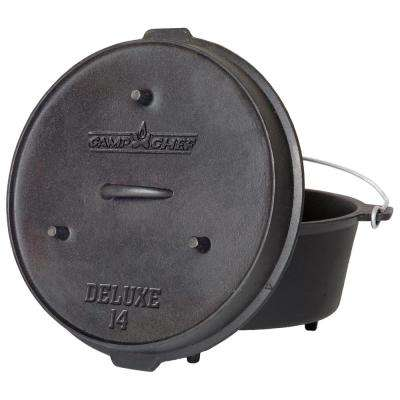 Deluxe Preseasoned Cast Iron 14 in. Dutch Oven
