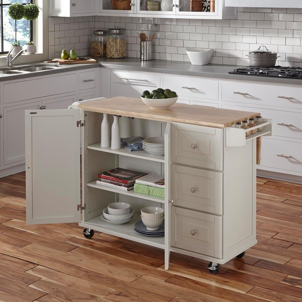 Small White Kitchen Island: Dolly Madison Liberty White Kitchen Cart-4511-95