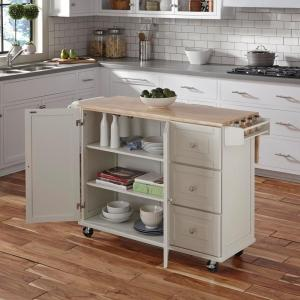 Dolly Madison Liberty White Kitchen Cart by Dolly Madison