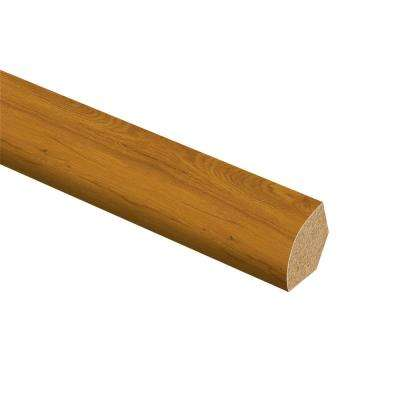 Essential Oak 5/8 in. Thick x 3/4 in. Wide x 94 in. Length Vinyl Quarter Round Molding