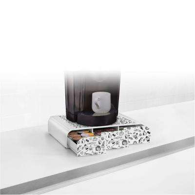 Anchor 36 Capacity Coffee Pod Triple Drawer in White Print