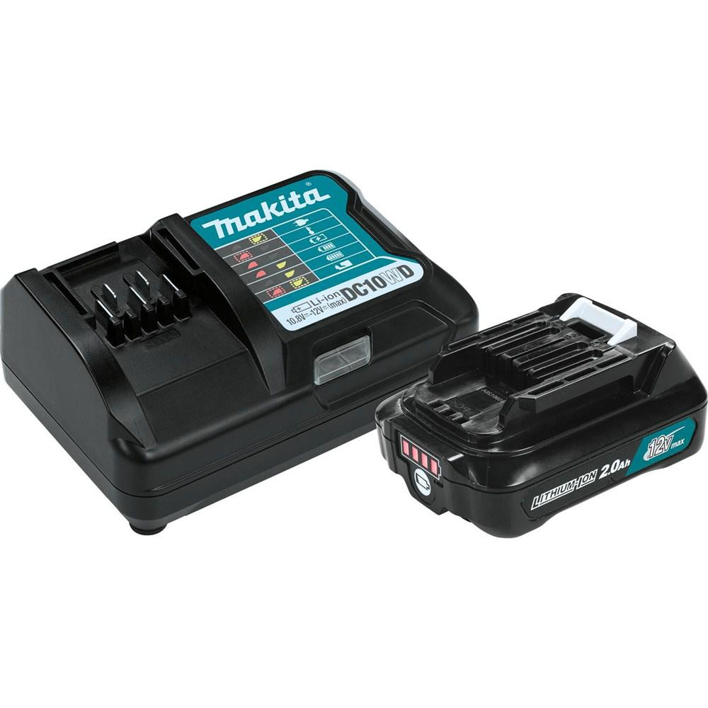 makita 12 volt max cxt lithium ion compact battery pack 2 0ah and charger starter kit bl1021bdc1. Black Bedroom Furniture Sets. Home Design Ideas