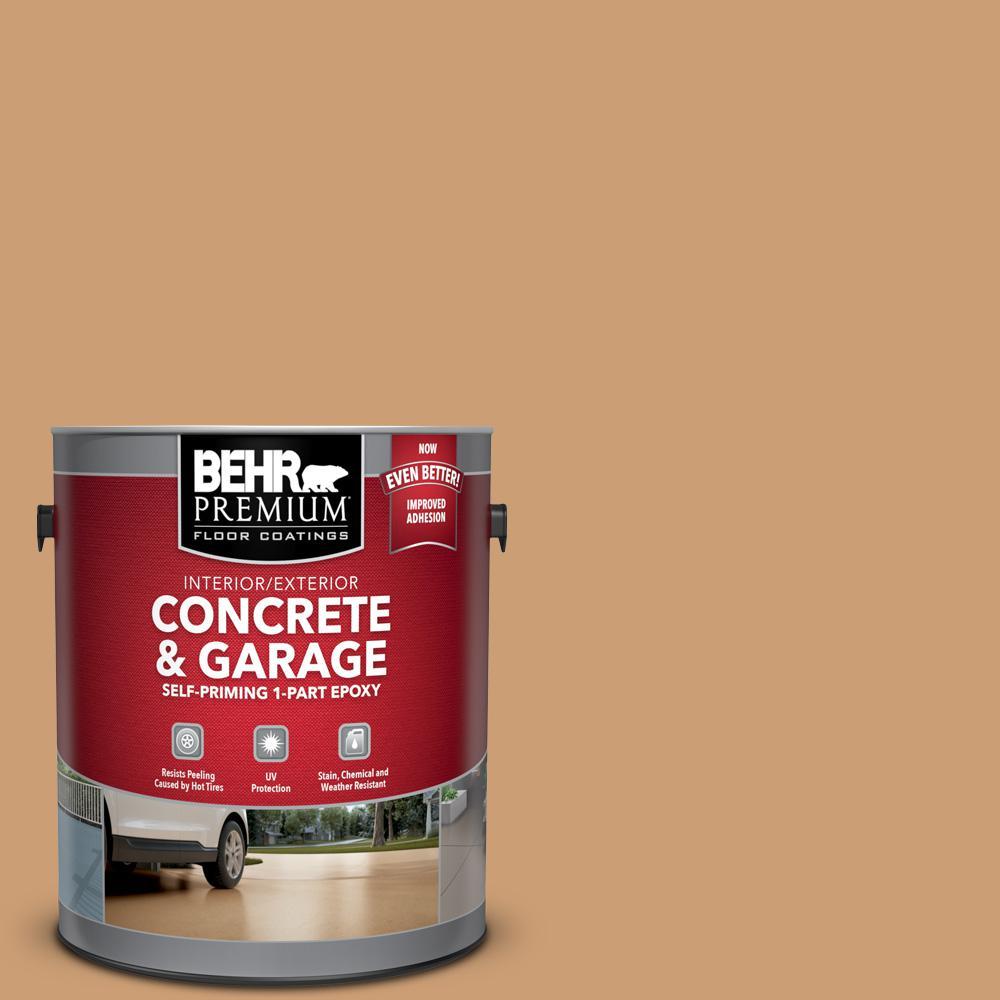 BEHR Premium 1 gal. #S250-4 Fresh Croissant Self-Priming 1-Part Epoxy Satin Interior/Exterior Concrete and Garage Floor Paint