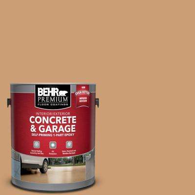1 gal. #S250-4 Fresh Croissant Self-Priming 1-Part Epoxy Satin Interior/Exterior Concrete and Garage Floor Paint