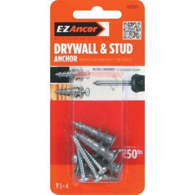 Stud Solver #7 x 1-1/4 in. Alloy Flat-Head Self-Drilling Drywall Anchors with Screws (4-Pack)