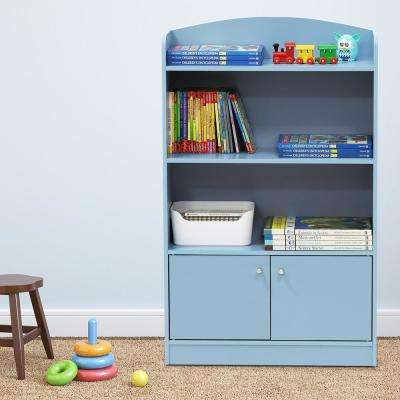 KidKanac Light Blue Storage Cabinet Bookshelf