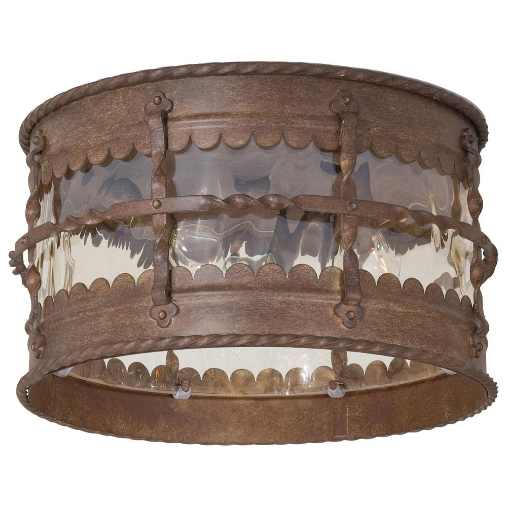 the great outdoors by Minka Lavery Mallorca 3-Light Vintage Rust ...