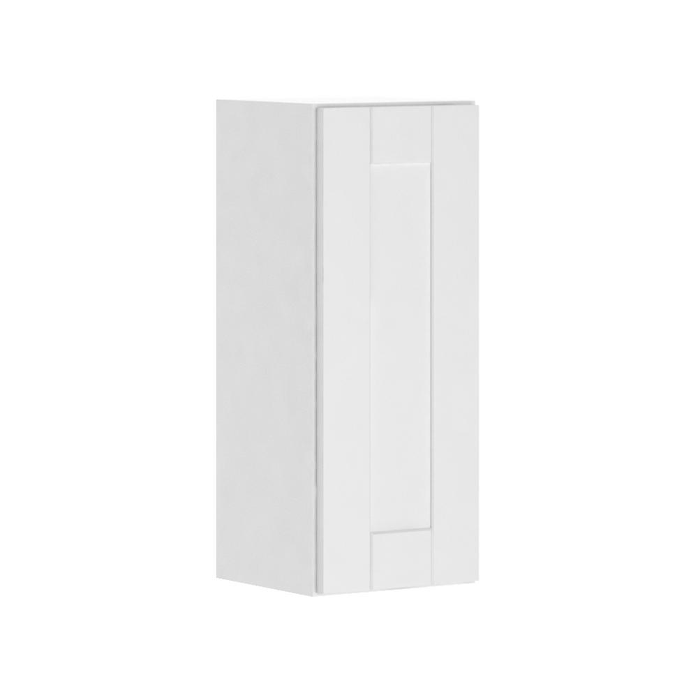 Hampton Bay Princeton Shaker Assembled 12x30x12 In Wall Cabinet In Warm White W1230 Pww The