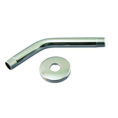 1/2 in. IPS x 8 in. Shower Arm with Flange in Polished Chrome