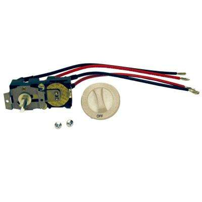 Com-Pak Series Almond Integral Double-Pole 22 Amp Thermostat Kit