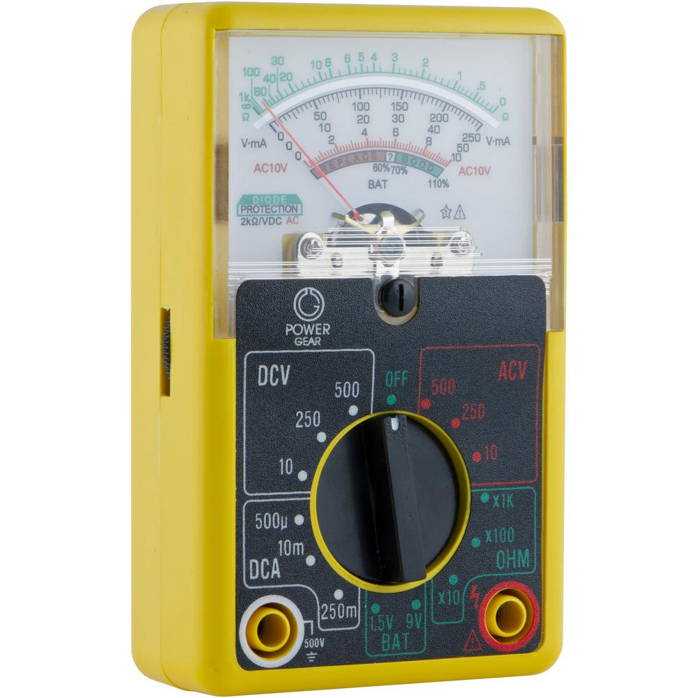 Multimeter For Home : Power gear volt analog multimeter the home depot
