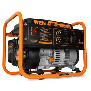 wen 4-stroke 98 cc 1550-watt portable gas-powered generator, carb