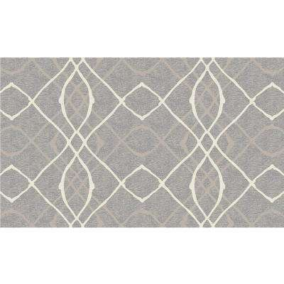 Washable Amara Grey 3 ft. x 5 ft. Area Rug