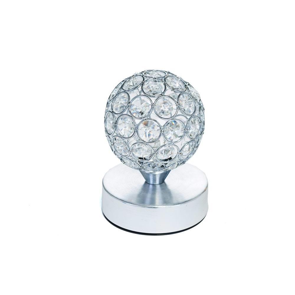 Battery Operated Table Lamp, W/Crystals   Pictured With Cool