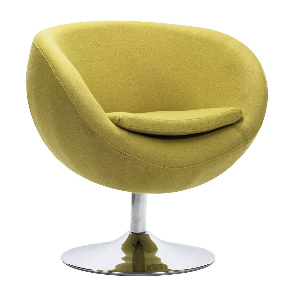 Lund Pistachio Polyfiber Arm Chair