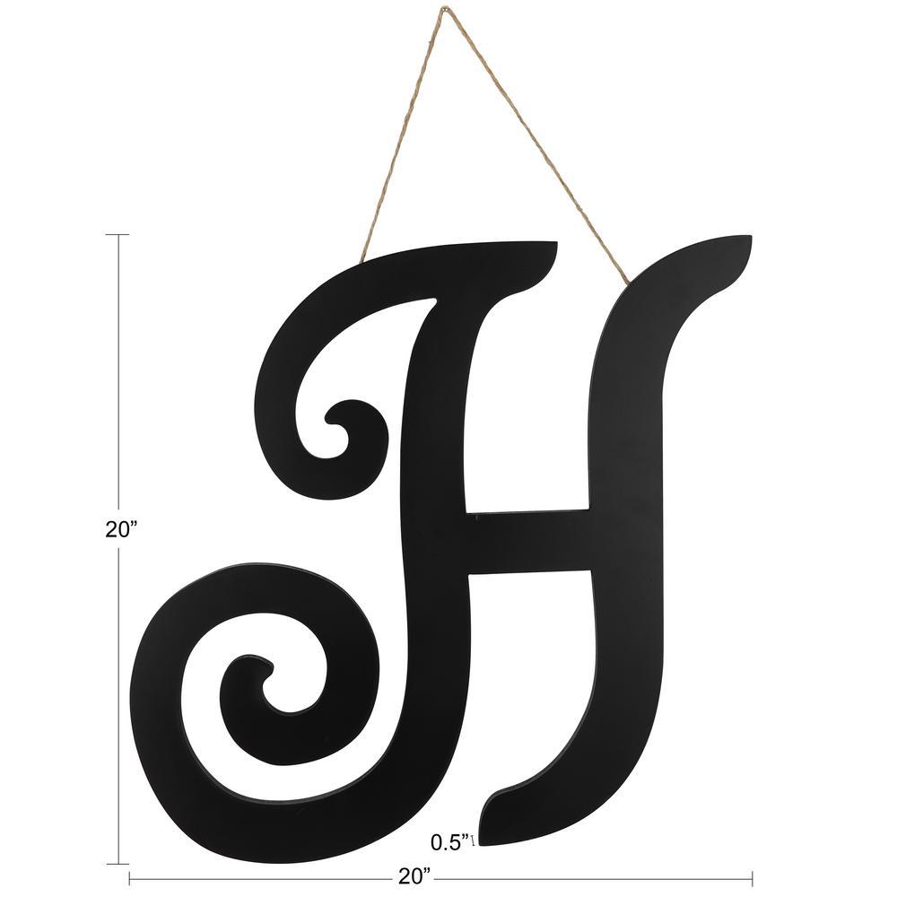 20 in. H Script letter