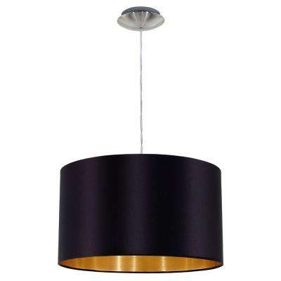 Maserlo 1-Light Black and Chrome Pendant