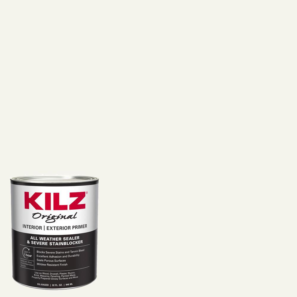 KILZ Original 1 qt. White Oil-Based Interior and Exterior Primer, Sealer, and Stain Blocker