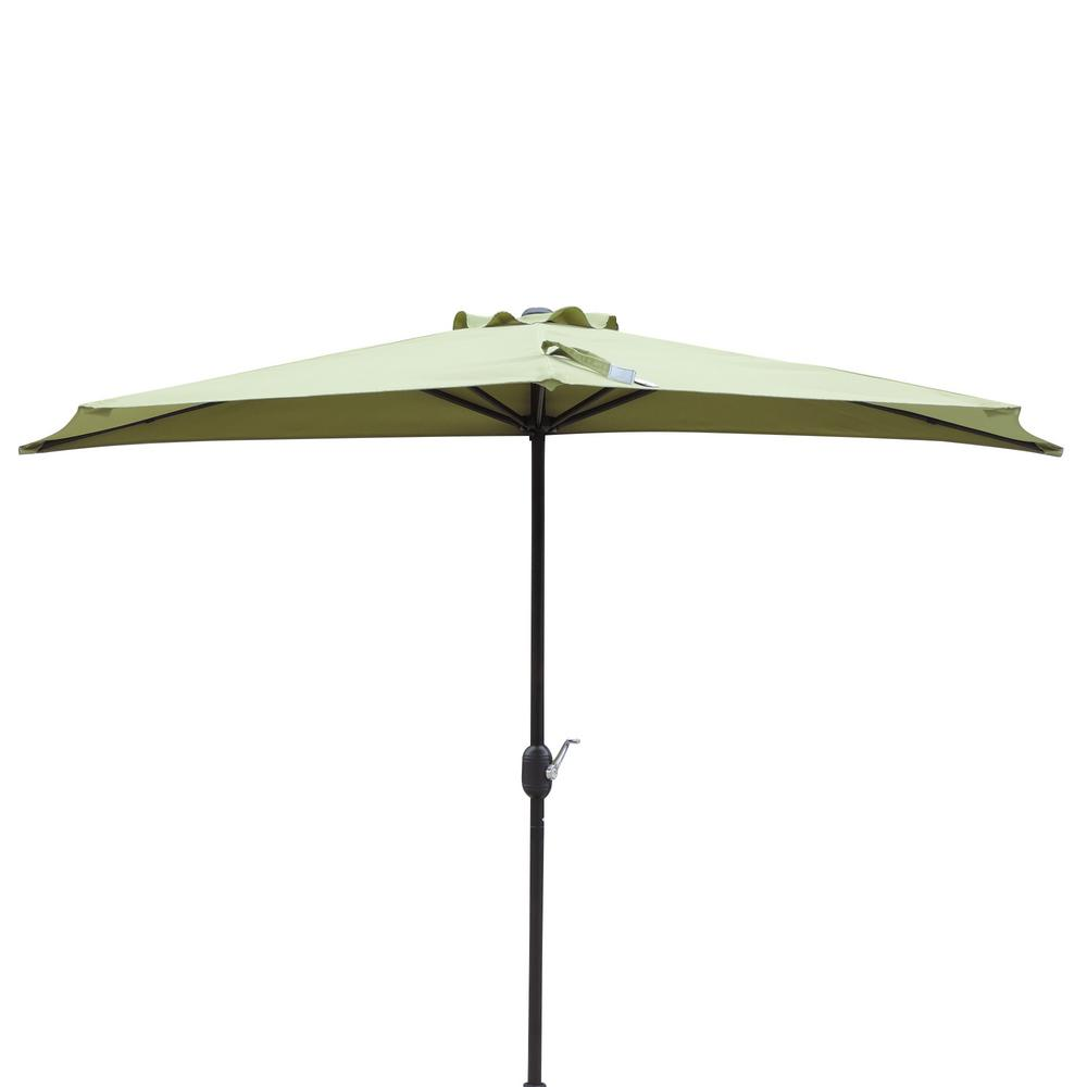 Half Market Patio Umbrella In Cilantro Green Polyester