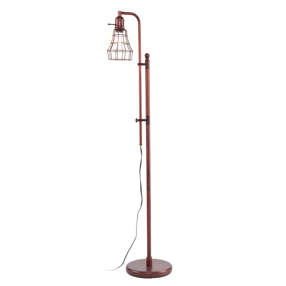 Marianna 66 in. Brushed Coppery Bronze Floor Lamp