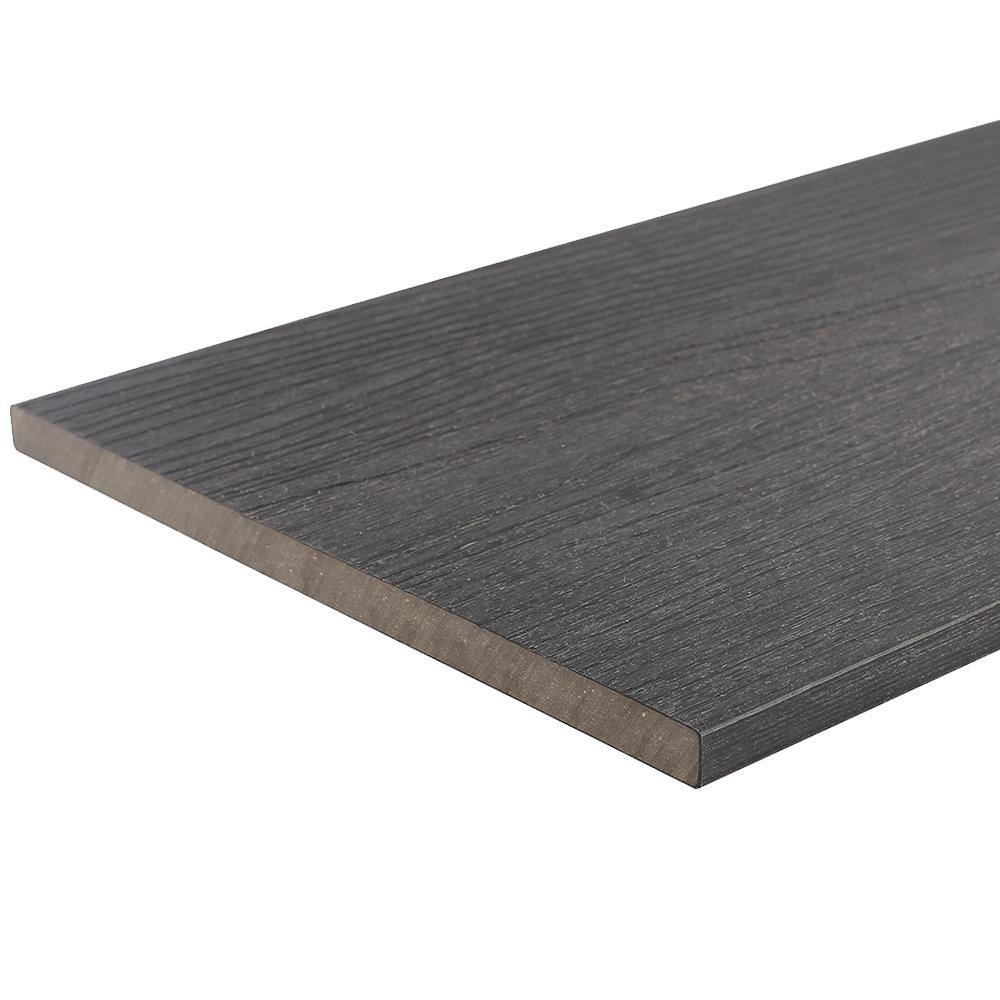 UltraShield 0.6 in. x 12 in. x 12 ft. Hawiian Charcoal Fascia Composite Decking Board