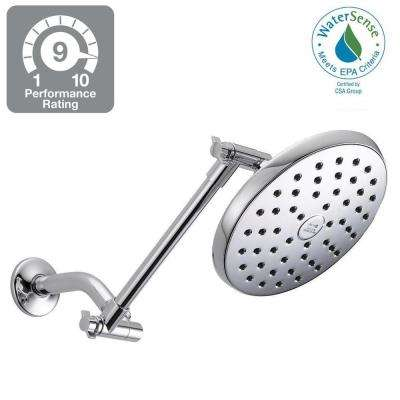 1-Spray 7-1/2 in. Fixed Shower Head in Chrome