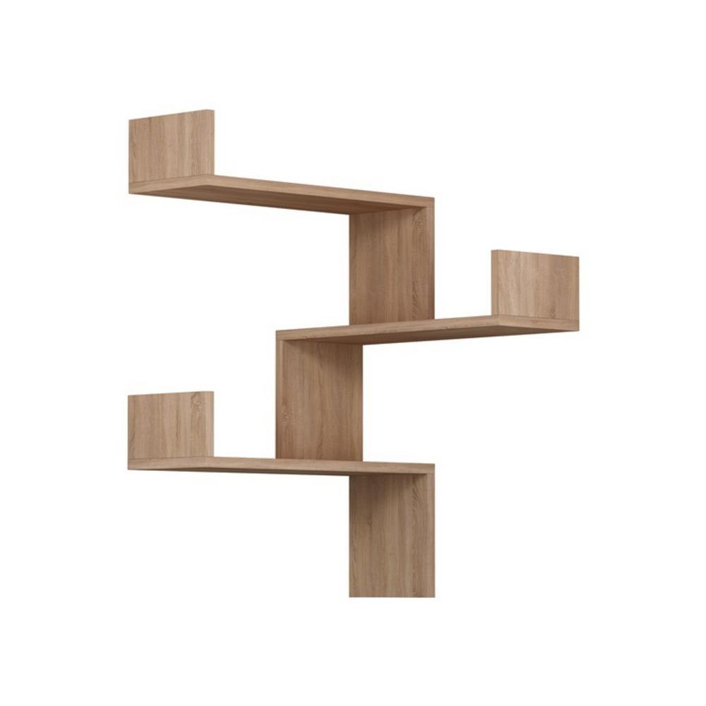 Contemporary Wall Shelves Decorative: Ada Home Decor Walker Oak Mid-Century Modern Wall Shelf