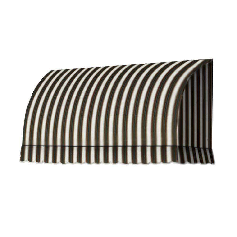 AWNTECH 5 ft. Savannah Window/Entry Awning (44 in. H x 36 in. D) in Burgundy/Forest/Tan Stripe
