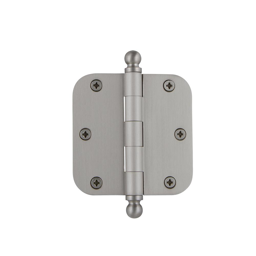 3.5 in. Ball Tip Residential Hinge with 5/8 in. Radius Corners