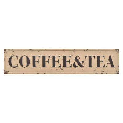Brown Metal Novelty Sign-Coffee & Tea