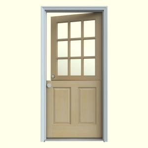JELD-WEN 36 in. x 80 in. Unfinished Dutch Right-Hand Inswing 9 Lite ...