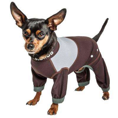 Large Brown Tail Runner Lightweight Full Body Performance Dog Track Suit
