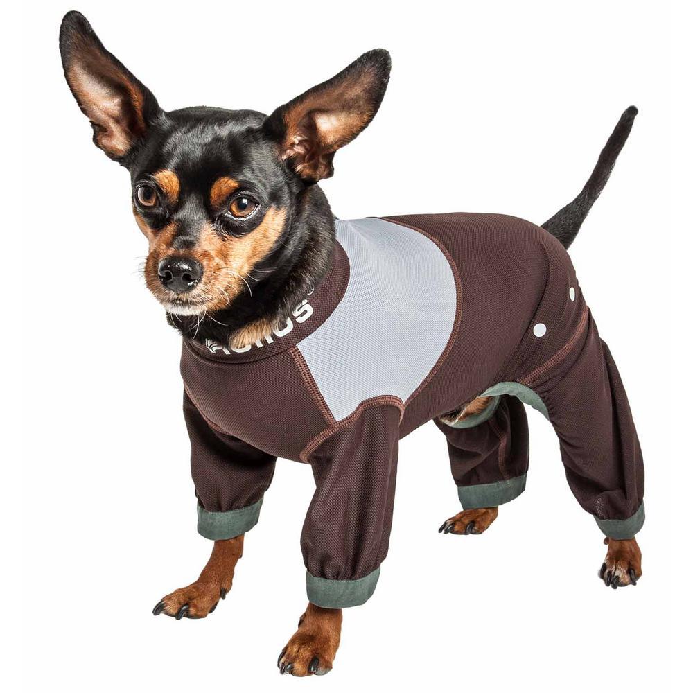 Dog Helios Medium Brown Tail Runner Lightweight Full Body Performance Dog Track Suit