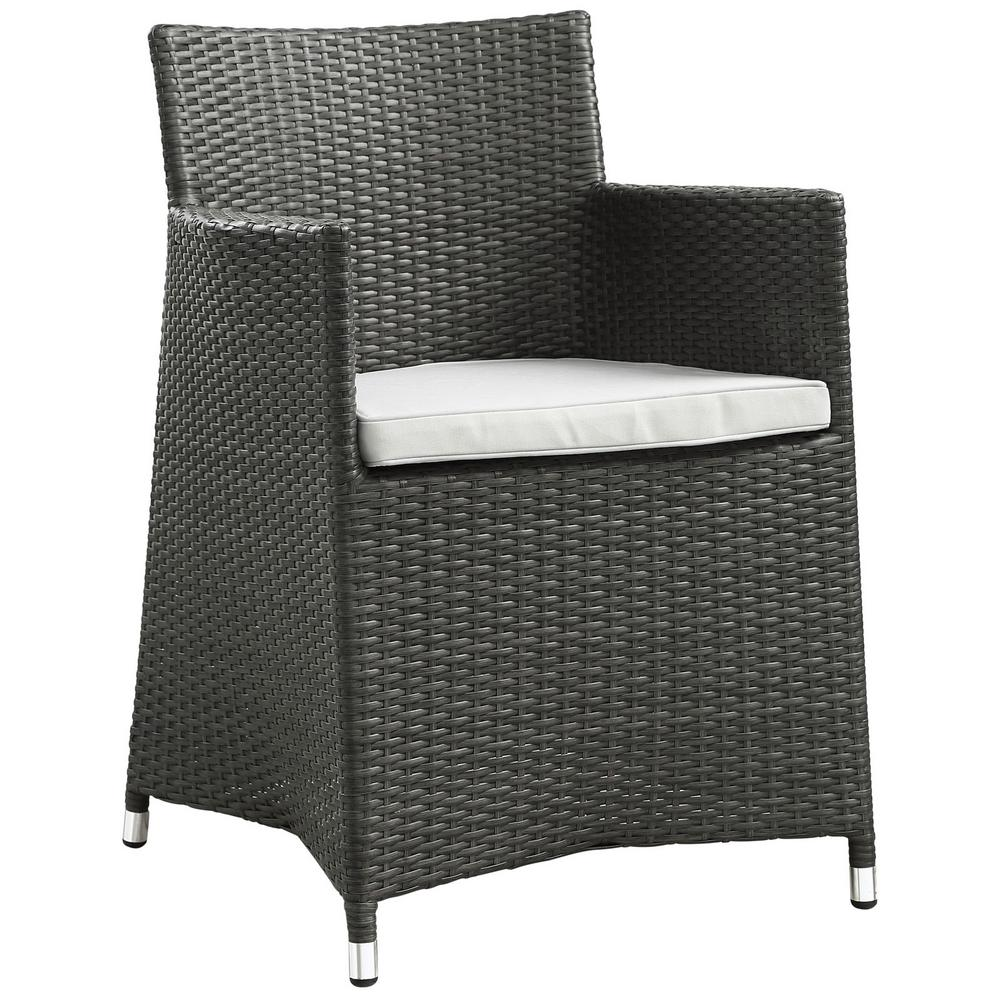 MODWAY Junction Wicker Outdoor Patio Dining Chair in Brow...