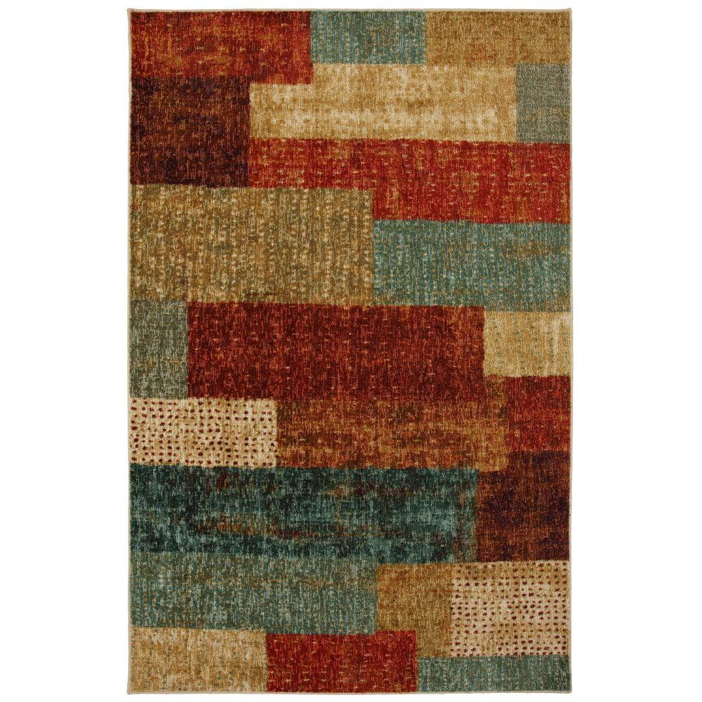 Mohawk Home Urban Abstract Multi 8 ft. x 10 ft. Area Rug