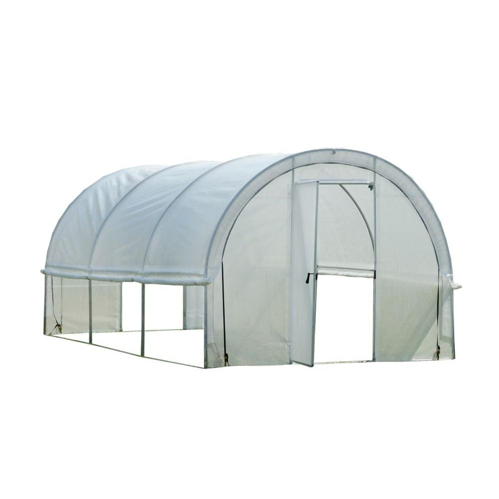 ShelterLogic GrowIt 19 ft. 8 in. x 10 ft. x 8 ft. Organic Growers Pro RoundTop Greenhouse