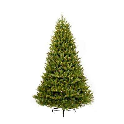 12 ft. Pre-Lit Incandescent Fraser Fir Artificial Christmas Tree with 1500 UL-Listed Clear Lights